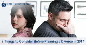 Planning a Divorce in 2017